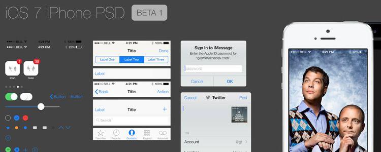 iOS7 GUI - PSD