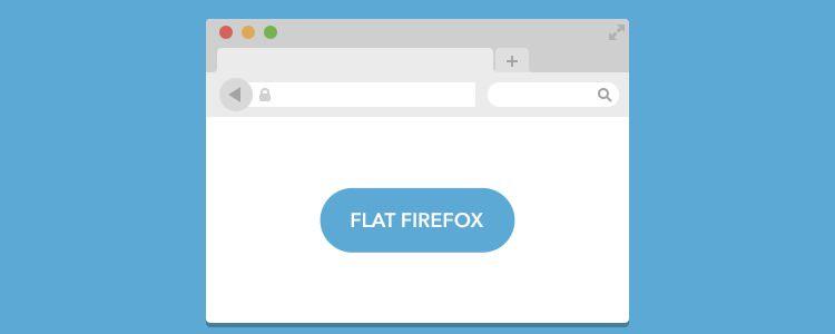 Flat Firefox