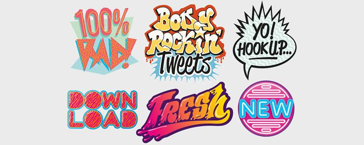 '80s Vector Badges