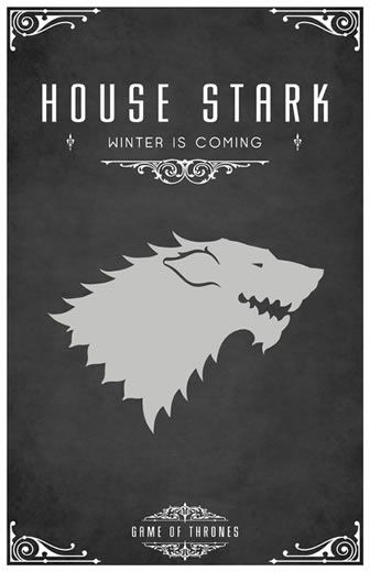 Game of Thrones Poster ilustrated series