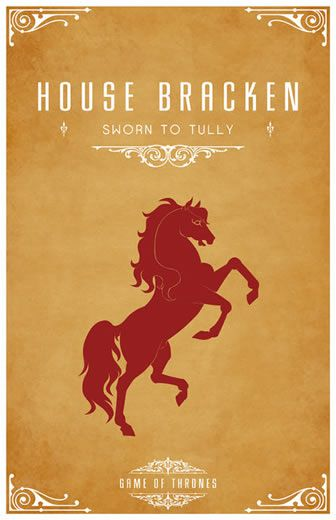 Poster Game of Thrones ilustrated series
