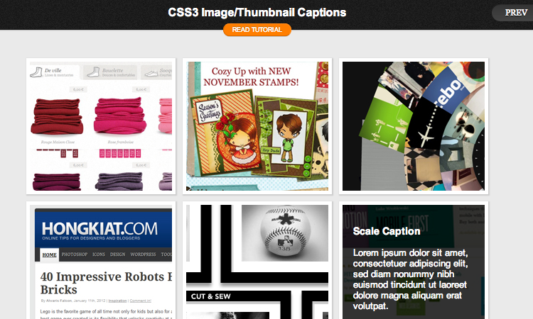 hongkiat image captions preview demo tutorial with css3