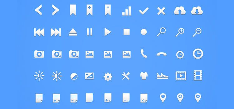Retina Glyph Icon Set 100 Icons,  AI & PNG Best Icon Sets