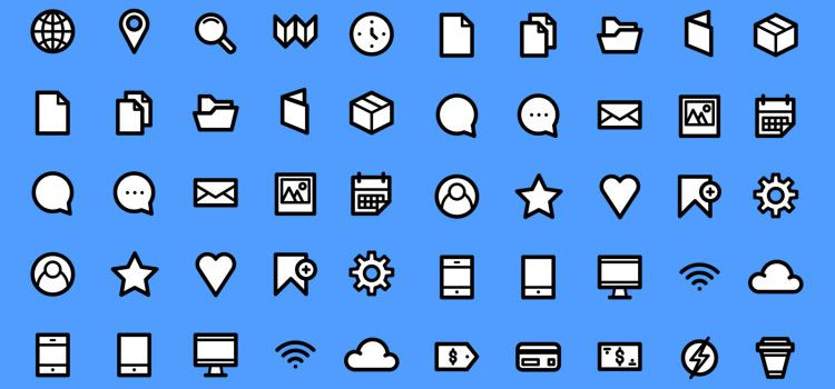 Simplicons 30 Icons, AI & PNG Best Icon Sets