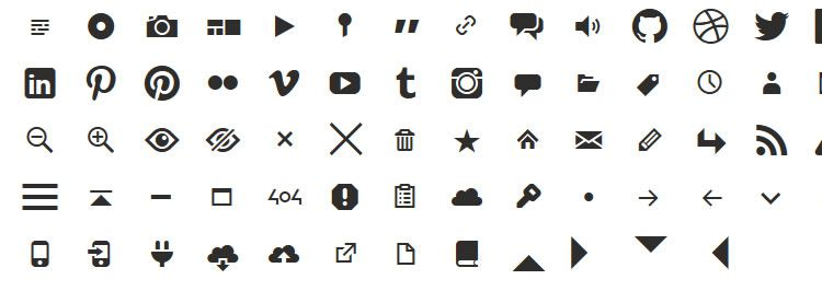 Genericons Web Font Best Icon Sets