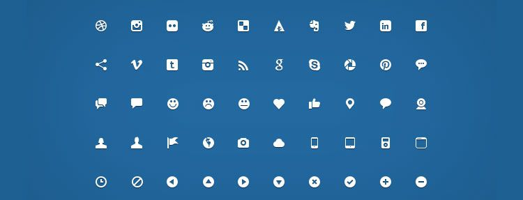 Micro Icons 200 Icons, PSD Best Free Icon Sets