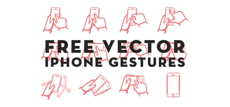 Vector iPhone Gestures AI & PNG Best Free Icon Sets