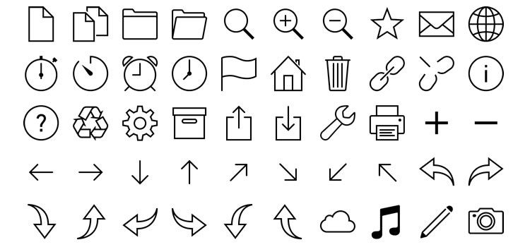 iOS 7 Icons in Vector SVG & PNG Best Free Icon Sets