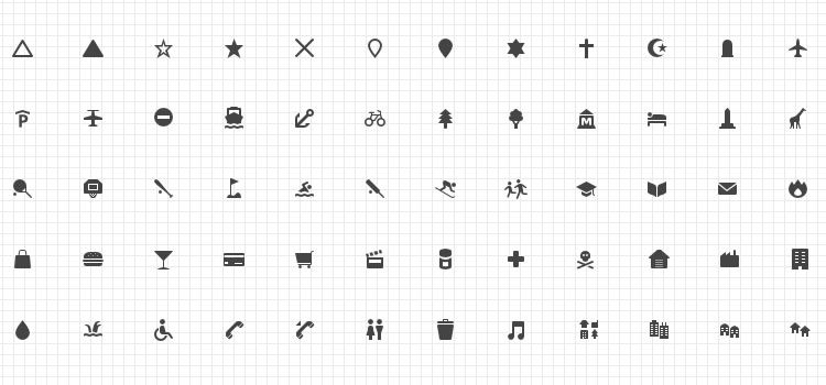 Maki Cartography Icon Set 279 Icons, SVG & PNG Best Free Icon Sets