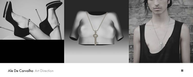 inspiration Ale De Carvalho example modern minimalist web design