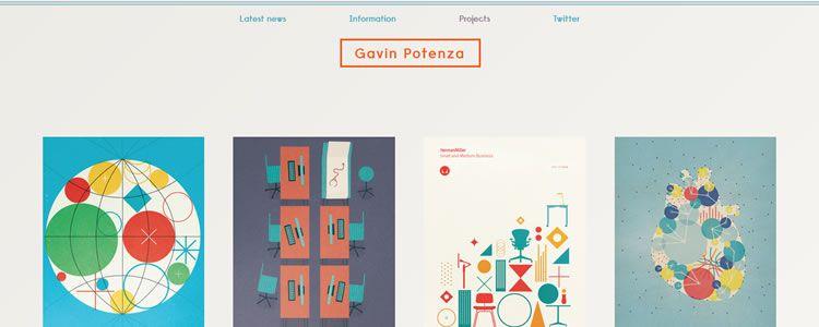 inspiration Gavin Potenza example modern minimalist web design