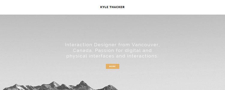 inspiration Kyle Thacker example modern minimalist web design