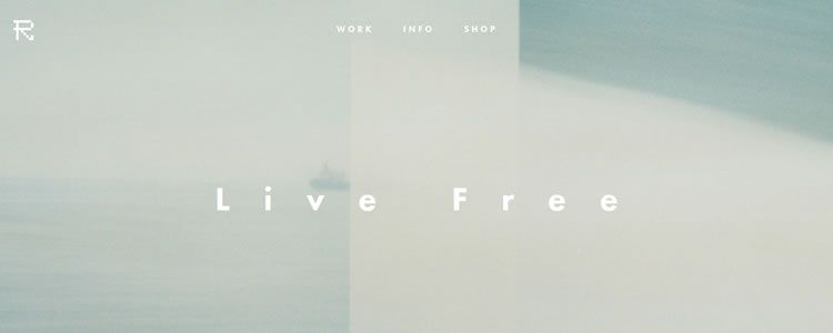 inspiration Refryed Design example modern minimalist web design