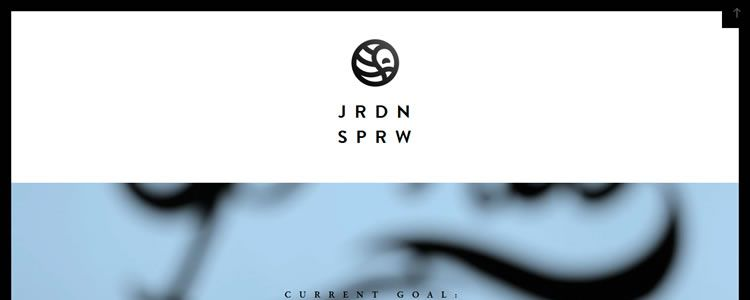 homepage of John Sparrow inspirational example of modern minimalism in web design