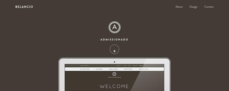 inspiration Belancio example modern minimalist web design