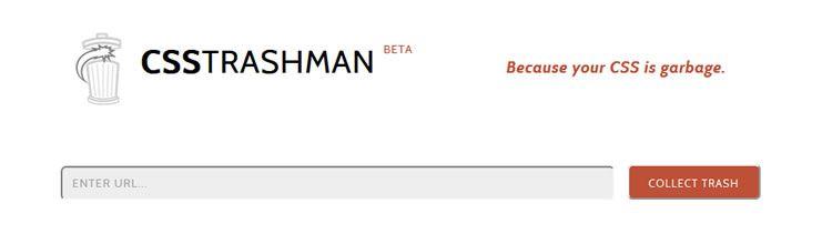 CSS Trashman top 50 css tools resources 2013