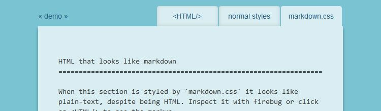 Markdown.css - New Resources for Web Designers and Developers
