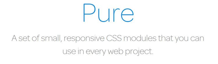 Pure - New Resources for Web Designers and Developers