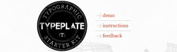 Typeplate - New Resources for Web Designers and Developers