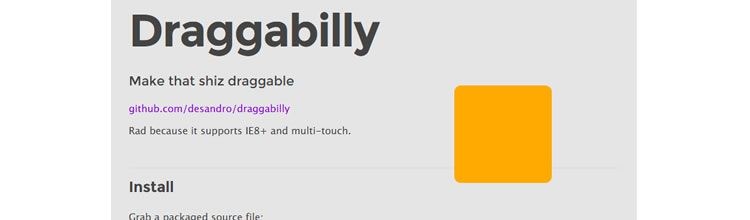 Draggabilly - New Resources for Web Designers and Developers