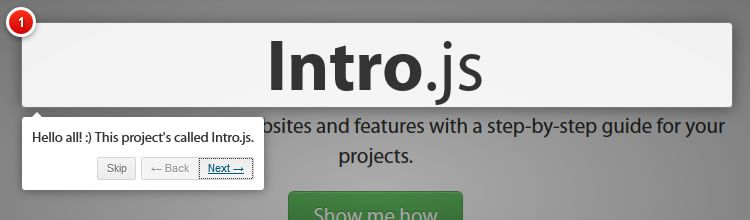 Intro.js offers better introductions for websites and features