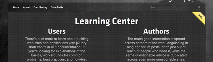 jQuery Learning Center - New Resources for Web Designers and Developers