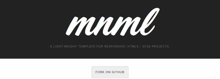 MNML minimal free web template website responsive HTML5 SASS