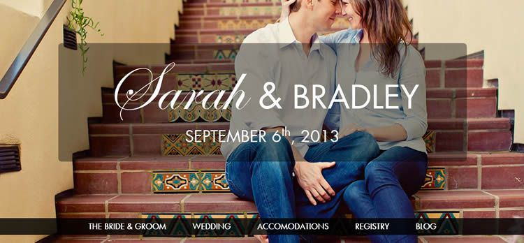 Responsive Wedding single-page layout feature-rich HTML5 responsive template jquery Waypoints