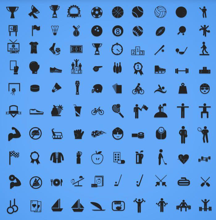 100 Free Sports Icon Set