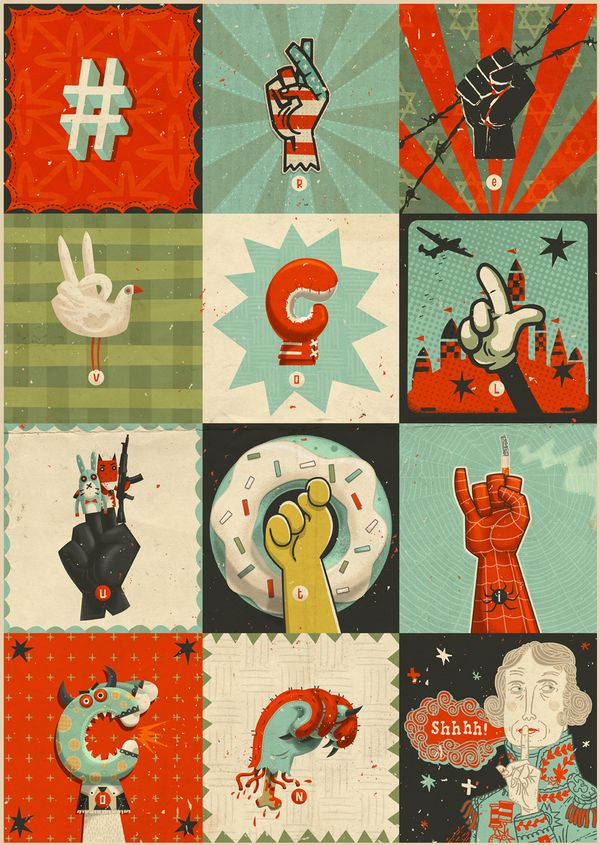 All the Signs of Revolution illustration portfolio steve simpson