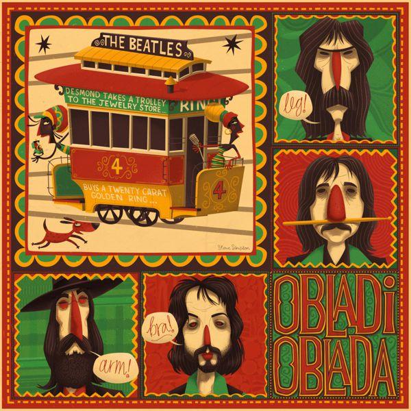 The Illustrated Beatles  illustration portfolio steve simpson
