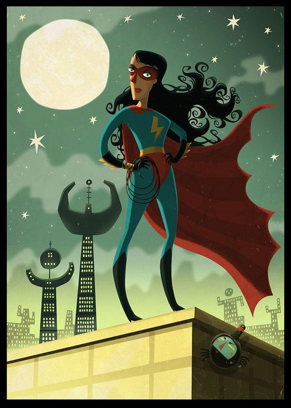Power Girl The Extraordinaires steve simpson illustration portfolio