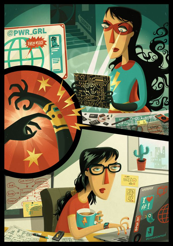 Power Girl The Extraordinaires  illustration portfolio steve simpson