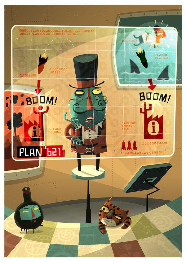Evil Genius steve simpson illustration portfolio