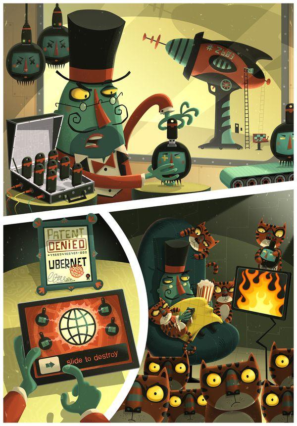 Evil Genius  illustration portfolio steve simpson
