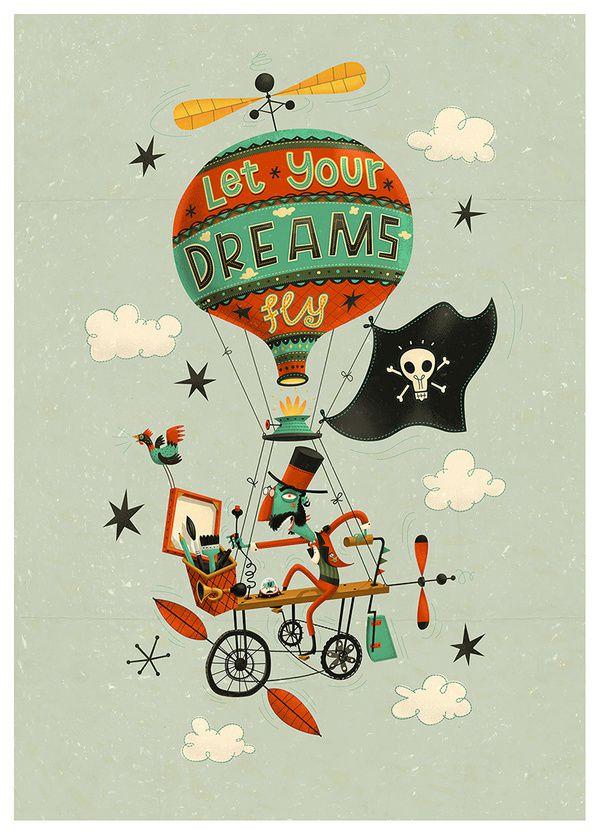 Let Your Dreams Fly steve simpson illustration portfolio