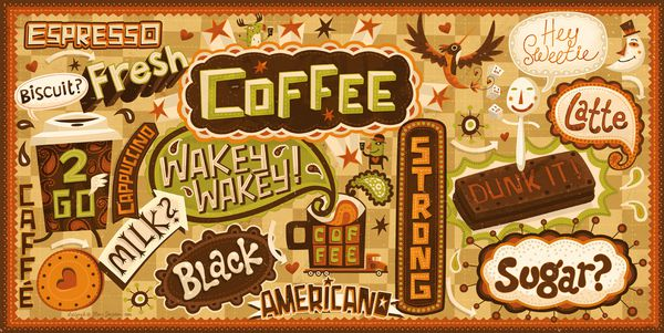 Coffee Cup Design  illustration portfolio steve simpson