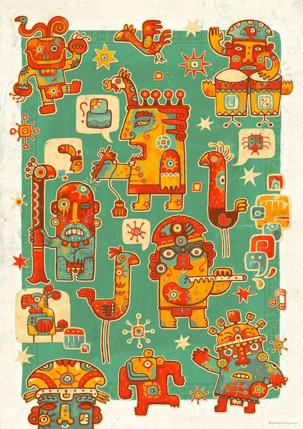Alphabet Project steve simpson illustration portfolio