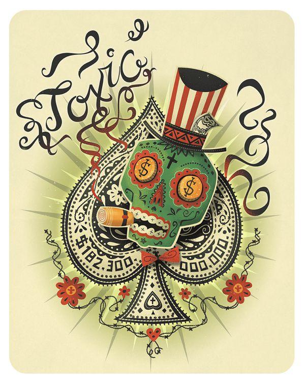 Ace of Spades steve simpson illustration portfolio