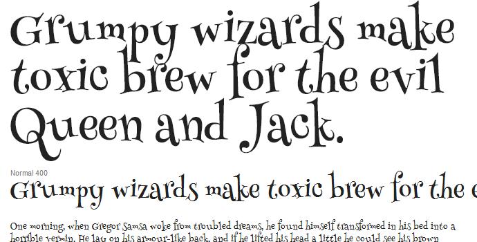unique free google web font henny penny