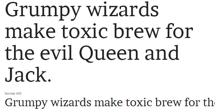 google web font brawler speciment typography