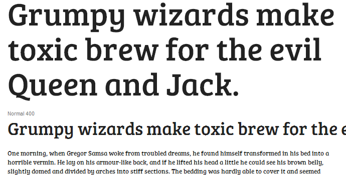 bree serif webfont specimen typography