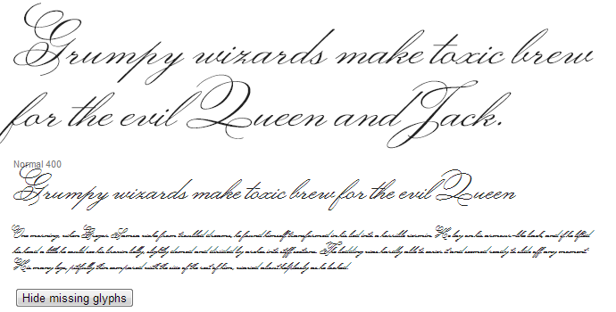 fancy cursive writing webfont monsieur doulaise
