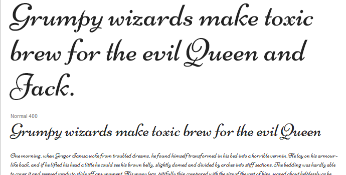 google webfont typeface script niconne