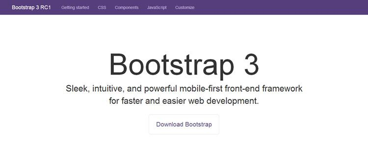 Bootstrap 3 Homepage
