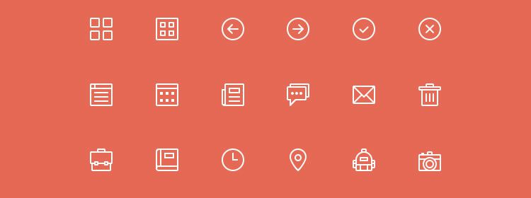 Skinny Icons PSD Best Free Icon Sets