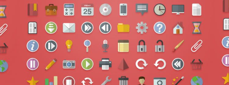 Flat Vector Icons AI & EPS