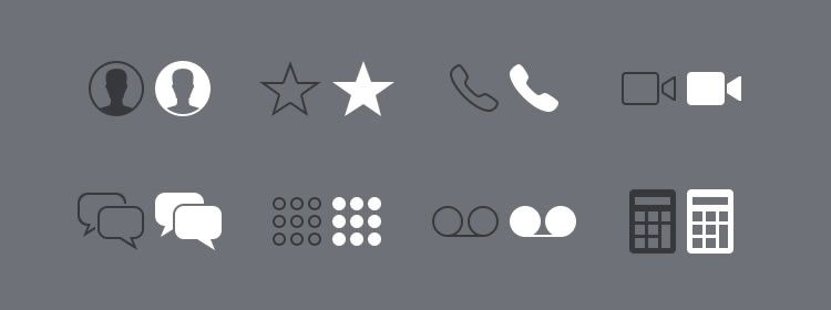 iOS Glyphs PNG Best Free Icon Sets