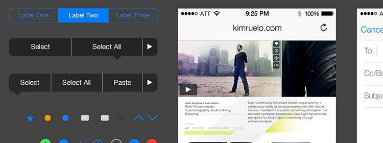 iOS 7 UI Kit AI