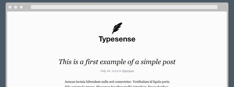 Typesense WordPress Theme